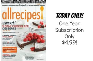 allrecipes Magazine Subscription Only $4.99!