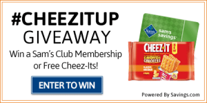 Enter to Win a $45 Sam's Club Gift Card – 10 Winners! #CheezItUp Giveaway