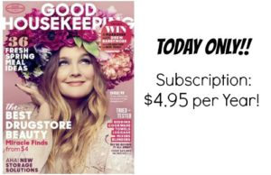 Good Housekeeping Magazine Just $4.95/Year!