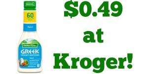 Kroger: Hidden Valley Greek Yogurt Dressing Only $0.49!