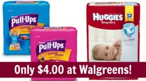 Walgreens: Huggies Diapers Only $2.55!
