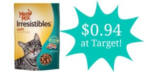 Target: Meow Mix Cat Treats Only $0.94!
