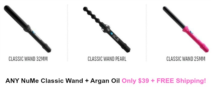 NuMe coupon codes offer big savings on everything you need for the hair styles you want: Clipless quick-heating curling wands in a range of sizes help you get the curls you want without a long wait. NuMe's' six flat iron styles make sleek, straight looks a cinch.