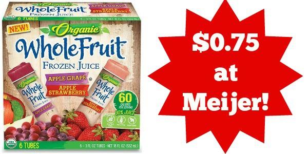 whole fruit frozen juice tubes meijer