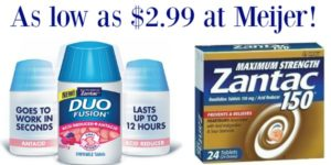Meijer: Zantac Products as low as $2.99!