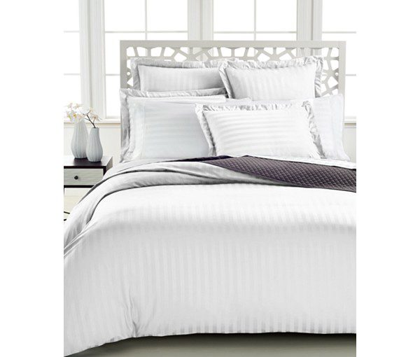 Charter Club Damask Stripe 500 Thread Count Pima Cotton Duvet Cover