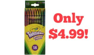 Crayola 18 Ct Twistables Colored Pencils Only $4.99!