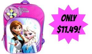 Disney Frozen Anna & Elsa Backpack Only $11.49!
