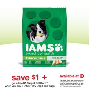 $1 OFF Coupon + Gift Card Offer on IAMs Dog Food at Target! #IamsDogOffer AD
