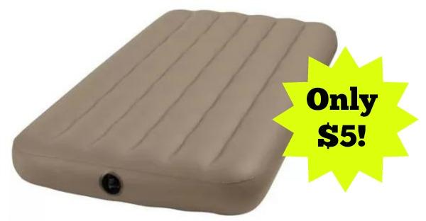 Intex Twin Waterproof Inflatable Vinyl Airbed Mattress