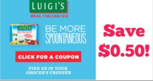 Save $0.50 on Luigi's Italian Ice!