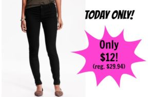 Today Only! Old Navy Mid-Rise Super Skinny Jeans Only $12!