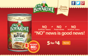 Chef Boyardee is on Rollback at Walmart! #SaveOnChef AD