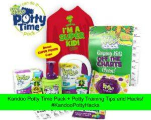 Kandoo Potty Time Pack + Potty Training Tips and Hacks! #KandooPottyHacks