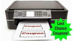 Last Chance Coupons! Print Now!