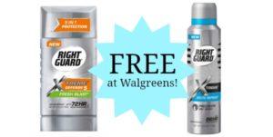 FREE Right Guard Xtreme Deodorant at Walgreens!