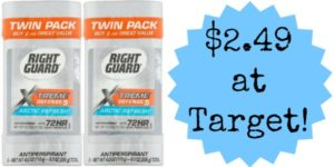 Target: Right Guard Xtreme Deodorant Twin Packs Only $2.49!