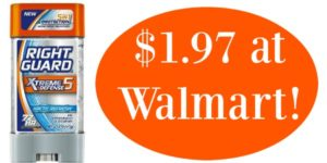 Walmart: Right Guard Xtreme Deodorant Only $1.97!