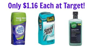 Target: Speed Stick Deodorant Twin Packs and Irish Spring Signature Body Wash Only $1.16!