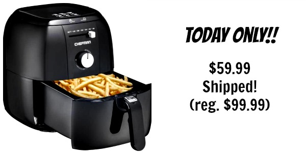 Today Only Chefman Express Air Fryer 59 99 Shipped