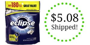 Eclipse Chewing Gum 180 count bags as low as $5.08 Shipped!