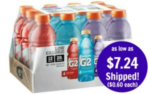 Gatorade G2 Thirst Quencher Variety Pack 12-Count as low as $7.24 Shipped! ($0.60/bottle)