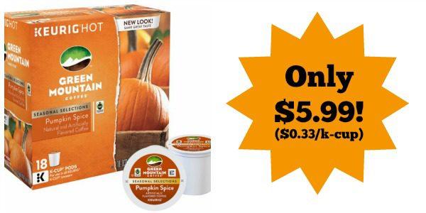 Green Mountain Pumpkin Spice K-Cups (18-Pack)