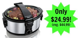 Hamilton Beach Stay or Go Single Clip 6-Quart Slow Cooker Only $24.99! (reg. $44.99)