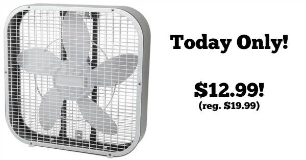 Today Only Holmes 20 Quot Box Fan 12 99 Reg 19 99