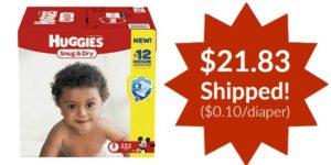 Huggies Snug and Dry Diapers as low as $0.10/diaper Shipped!