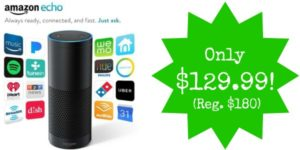 **HOT** Today Only – Amazon Echo Only $129.99 (Reg. $180)! Better Than Black Friday!
