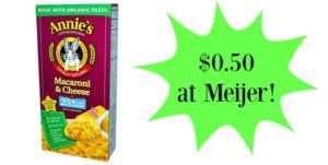 Meijer: Annie's Mac and Cheese Only $0.50!