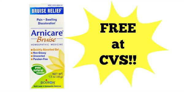 free arnicare bruise cream at cvs