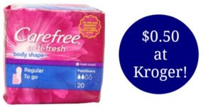 Kroger: Carefree Liners Only $0.50!