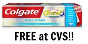 FREE Colgate Toothpaste at CVS!