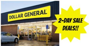 Dollar General 2-Day Sale – September 2 & 3