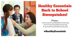 Enter the Healthy Essentials Back to School Sweepstakes! $55,000 in Prizes! #HealthyEssentials #partner