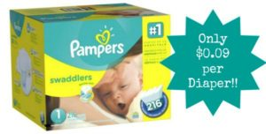 Pampers Swaddlers Diapers Only $0.09 Per Diaper!!