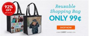 Custom Reusable Shopping Bag Only $0.99!