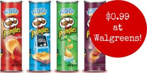 Walgreens: Pringles Cansiters Only $0.99!