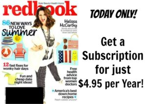 Redbook Magazine Subscription Only $4.95 per Year!
