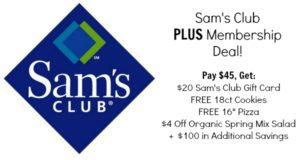Sam's Club Plus Membership Deal – Pay $45, Get $20 Sam's Club Gift Card + FREEBIES!
