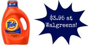 Walgreens: Tide Laundry Detergent Only $3.95!