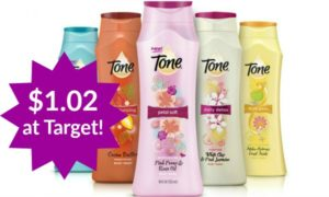 Target: Tone Body Wash Only $1.02!