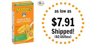 Annie's Shells & Real Aged Cheddar Macaroni & Cheese as low as $9.00 Shipped! ($0.75/box)