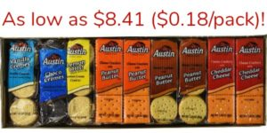 Austin Cookies and Crackers Variety Pack, 45 Count as low as $8.41 ($0.18/Pack)!