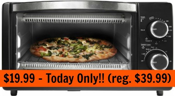 Chefman 4 Slice Toaster Oven 19 99 Today Only Reg