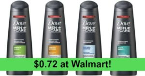 Walmart: Dove Men+Care Fresh and Clean 2 in 1 Shampoo and Conditioner 12-oz Only $0.72!