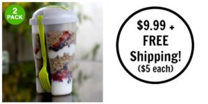 Salad-To-Go Container Set 2-pack Only $9.99 + FREE Shipping!