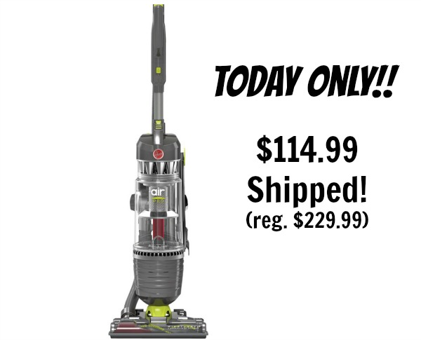 hoover windtunnel 3 air pro bagless upright vacuum  114 99